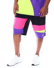 Shorts - Abstract Colorblock Contrast Shorts (B&T)-2511982