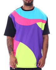 Shirts - Abstract Colorblock Contrast Tee (B&T)-2511998