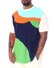 Shirts - Abstract Colorblock Contrast Tee (B&T)-2512003