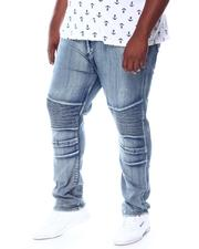Big & Tall Faves - Fashion Cut & Sew Moto Jeans (B&T)-2511675