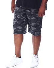 Big & Tall Faves - Belted Camo Twill Cargo Shorts (B&T)-2512359
