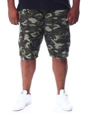 Big & Tall Faves - Belted Camo Twill Cargo Shorts (B&T)-2512363