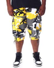 Big & Tall Faves - Camo Cargo Shorts w/ Belt (B&T)-2512428