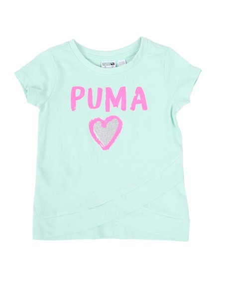 Puma - Alpha Pack Cross Front Fashion Tee (2T-4T)