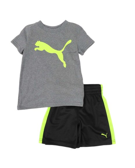 Puma - 2 Pc Performance Logo Tee & Shorts Set (2T-4T)