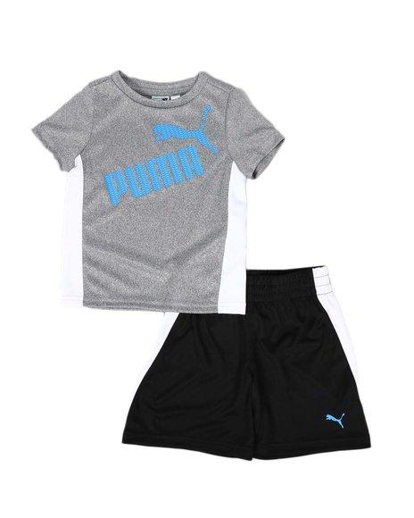 Puma - 2 Pc Performance Logo Tee & Shorts Set (2T-4T)