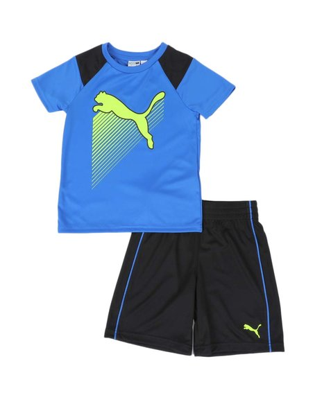 Puma - 2 Pc Performance Tee & Shorts Set (4-7)