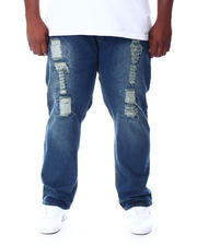 Big & Tall Faves - Skinny High Fashion Rip & Repair Denim Pants (B&T)-2512392