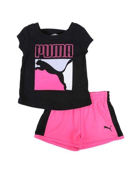 Puma - 2 Pc Logo Tee & Tricot Shorts Set (Infant)