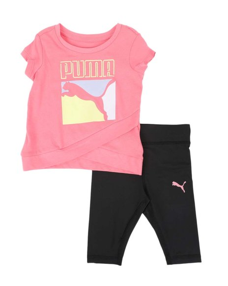 Puma - 2 Pc Logo Tee & Capri Leggings Set (Infant)
