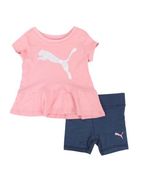 Puma - 2 Pc Logo Tee & Bike Shorts Set (Infant)