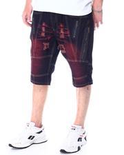Buyers Picks - Red Bleach Zip Denim Short-2512801