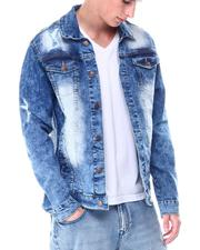 Denim Jackets - RIP AND REPAIR DENIM JACKET-2513313