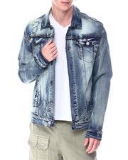 Denim Jackets - RIP AND REPAIR DENIM JACKET-2513320