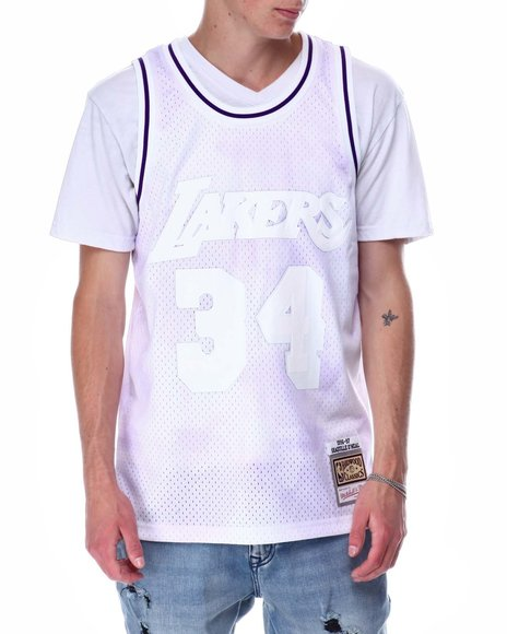 Mitchell & Ness - LAKERS Cloudy Skies Swingman Jersey - Shaquille O Neal