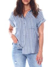Going-Out-Outfits - stripe 2 pocket button front shirt-2513367