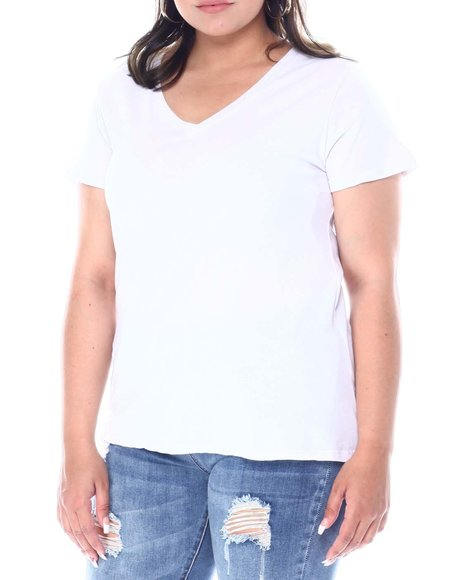 Fashion Lab - 2 Pc S/S V-Neck T-Shirt Set