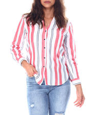 Going-Out-Outfits - Y neck 2pocket roll cuff button down shirt-2513387