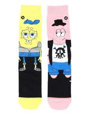 DRJ SOCK SHOP - SpongBob Hipsters Crew Socks-2514092