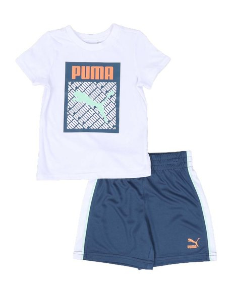 Puma - Graphic Injection Pack Tee & Shorts Set (2T-4T)
