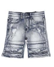 Shorts - Cloud Wash Moto 5 Pocket Shorts (8-20)-2514143