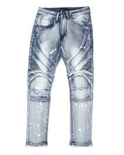 Arcade Styles - Bleach Splatter Moto Jeans (8-20-2514317
