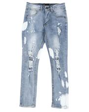 Arcade Styles - Bleach Splatter Rip & Repair 5 Pocket Jeans (8-20)-2514325