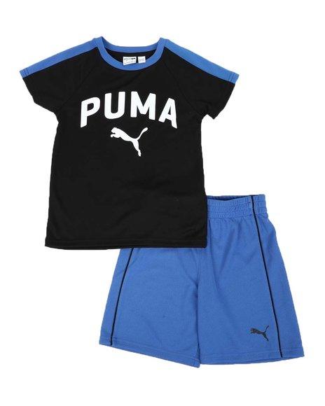 Puma - 2 Pc Performance Tee & Mesh Shorts Set (4-7)