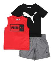 Boys - 3 Pc Logo Tee, Muscle Tee & Shorts Set (2T-4T)-2513846