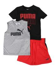 Puma - 3 Pc Logo Tee, Muscle Tee & Shorts Set (2T-4T)-2513850