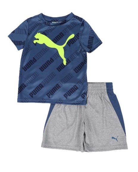 Puma - 2 Pc Logo Tee & Shorts Set (2T-4T)