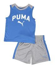 Puma - 2 Pc Logo Muscle Tee & Shorts Set (2T-4T)-2513900