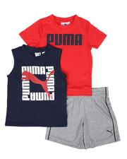 Boys - 3 Pc Logo Tee, Muscle Tee & Shorts Set (2T-4T)-2513915