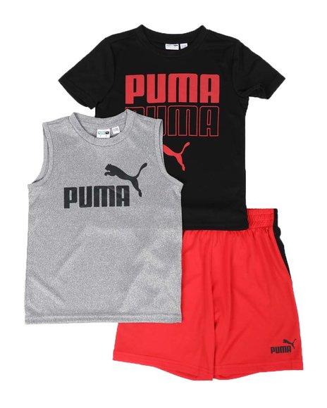 Puma - 3 Pc Performance Tee, Muscle Tee & Shorts Set (4-7)