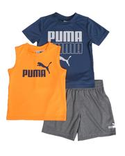 Puma - 3 Pc Logo Tee, Muscle Tee & Shorts Set (2T-4T)-2513939