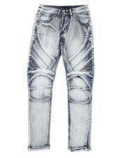 Arcade Styles - Moto Denim Jeans (8-20)-2514406