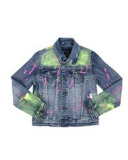 Outerwear - Paint Splatter Denim Jacket (8-20)-2514430
