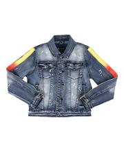Outerwear - Ombre Stripe Side Denim Jacket (8-20)-2514442