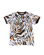 T-Shirts - All Over Animal Print T-Shirt (8-20)-2514452