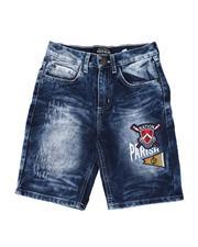 Shorts - Rip & Repair Patch Work Denim Shorts (8-20)-2516112