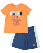 Puma - TFS Pack Graphic Tee & Shorts Set (2T-4T)-2513854