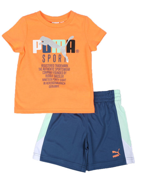 Puma - TFS Pack Graphic Tee & Shorts Set (2T-4T)