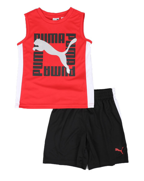 Puma - 2 Pc Performance Muscle Tee & Shorts Set (4-7)
