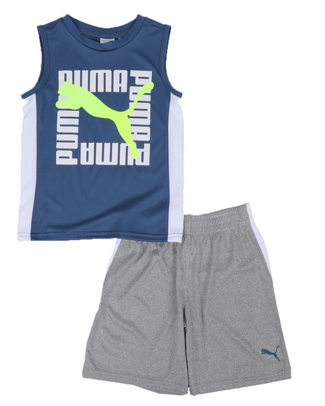 Puma - 2 Pc Performance Muscle Tee & Shorts Set (4-7)