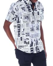 Button-downs - Newspaper SS Woven Shirt-2514621