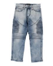 Boys - Moto Acid Wash 5 Pocket Jeans (4-7)-2516673