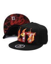 Hats - Burning Lit Snapback Hat-2514141