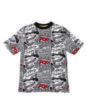T-Shirts - Comic Print Jersey Crew Neck Tee (8-20)-2517705