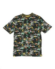 NOTHIN' BUT NET - Popsicle Camo Print Jersey Crew Neck Tee (8-20)-2517716