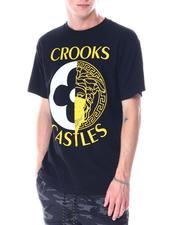 Crooks & Castles - Medusa Monogram Split Tee-2518138
